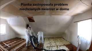 Odc.1. Izolacja stropu domu jednorodzinnego pianką poliuretanową