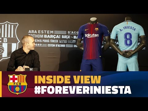 [BEHIND THE SCENES] Andrés Iniesta signs lifetime deal with Barça