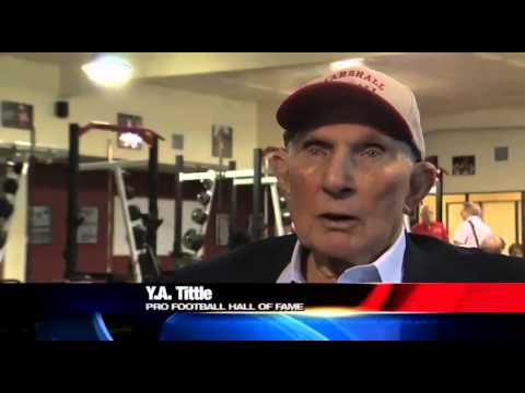 Pro Football Hall of Famer YA Tittle honored in Marshall