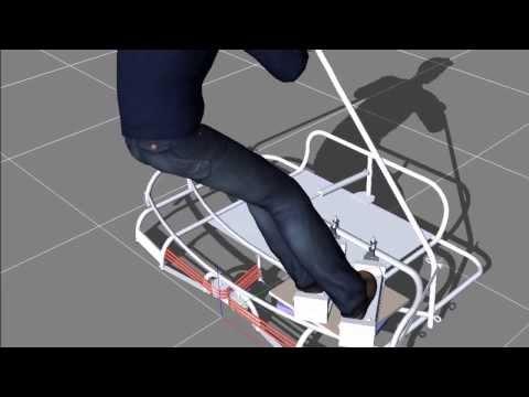 Simulated Ski Ski Motion Machine