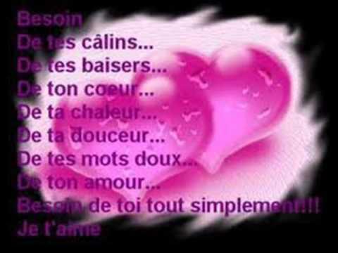 Poeme pour annie roy je t 39 aime mon amour youtube - Ceour d amour ...