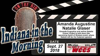 Indiana in the Morning Interview: Amanda Augustine and Natalie Glaser (9-27-18)