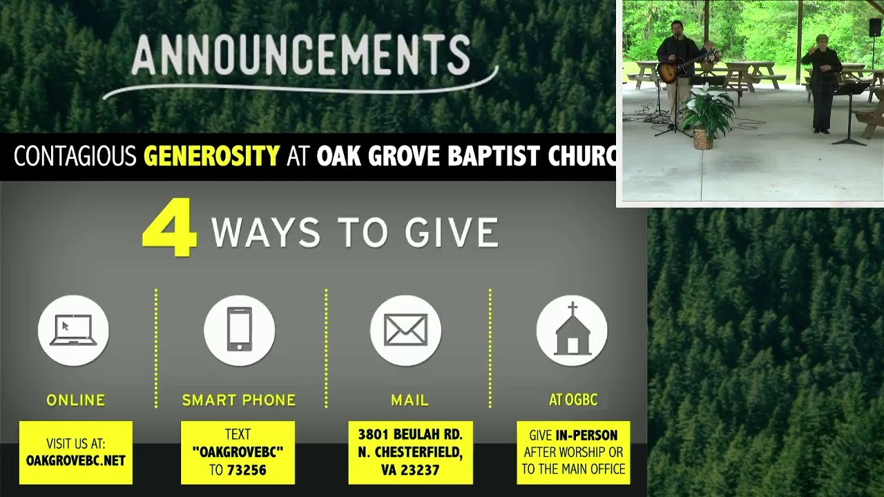 OGBC Drive-In Worship Service (April 25, 2021)