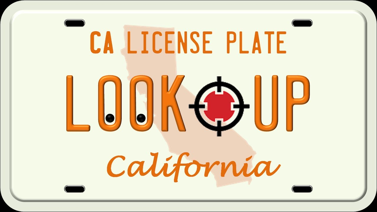 How to Search A California License Plate Number - YouTube