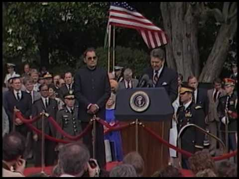 President Reagan's Remarks at the Welcoming of Prime Minister Rajiv Gandhi of India on June 12, 1985