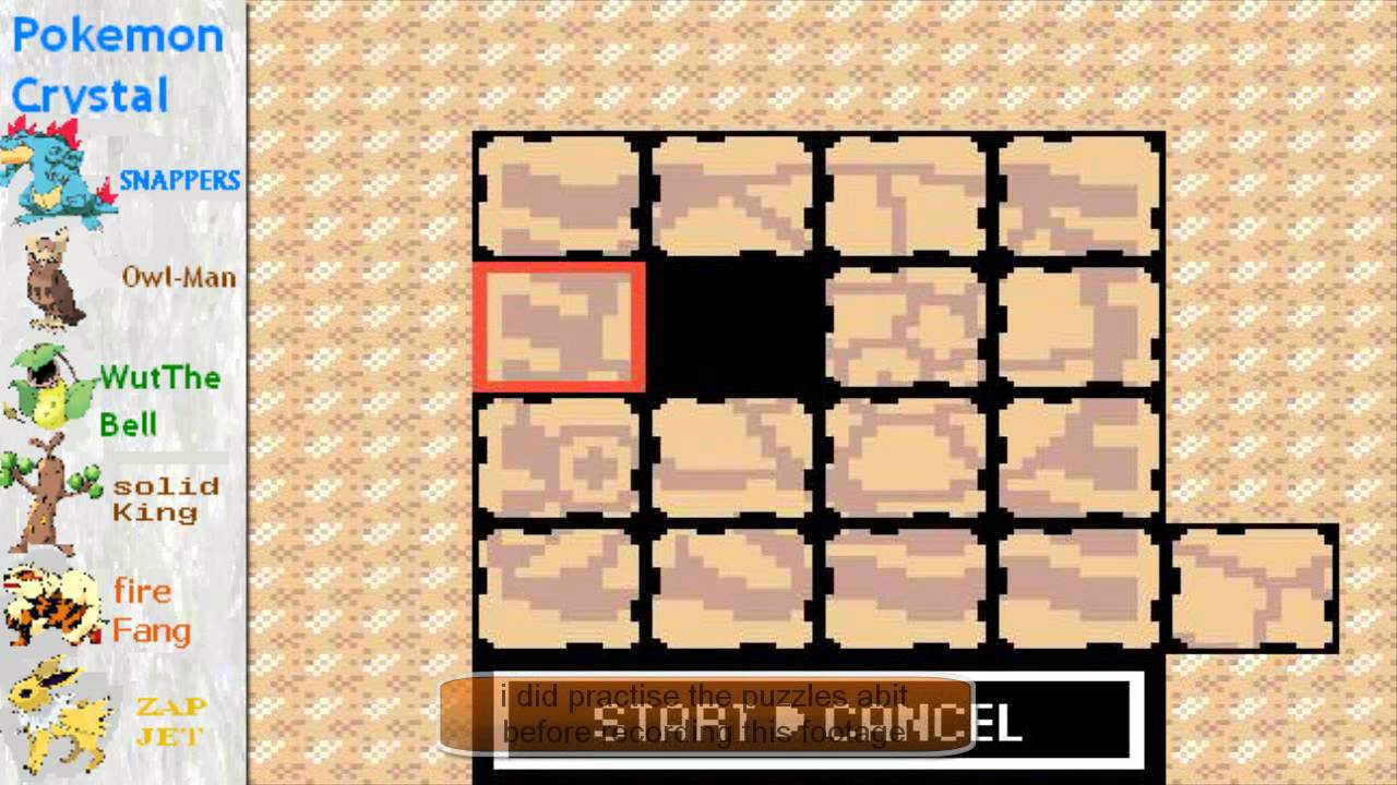 Pokemon Crystal Part 41 Puzzle Perfection Hd Youtube