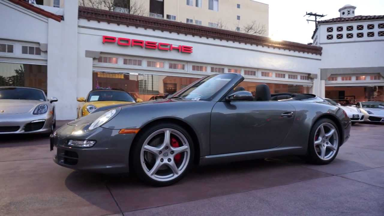 2007 porsche 911 carrera s cabriolet 3 8 meteor grey. Black Bedroom Furniture Sets. Home Design Ideas