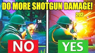 HOW TO DO MORE SHOTGUN DAMAGE IN FORTNITE! HOW TO GET BETTER AT FORTNITE PS4/XBOX CONSOLE TIPS!