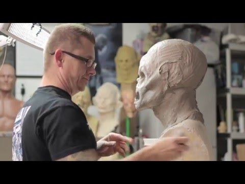 How to sculpt a Monster Mask - Monster Asylum WED clay demo Jonathan Fuller