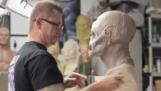 How to sculpt a Monster Mask - Monster Asylum WED clay demo Jonathan Fuller thumbnail
