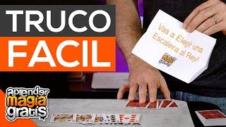 Truco de magia con cartas fácil y predicción IMPOSIBLE | Aprender Magia Gratis