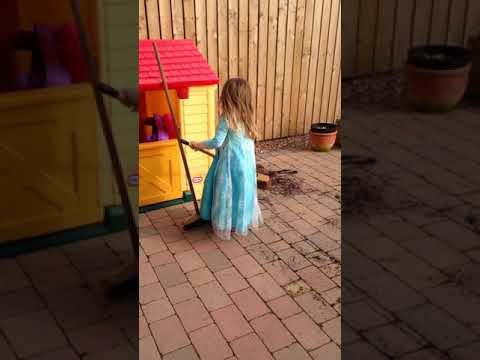 Princess Sophie tidying the Garden in Summer 2015 - Elsa