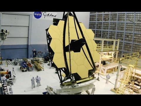 Webb Telescope Mirror Rollover Timelapse