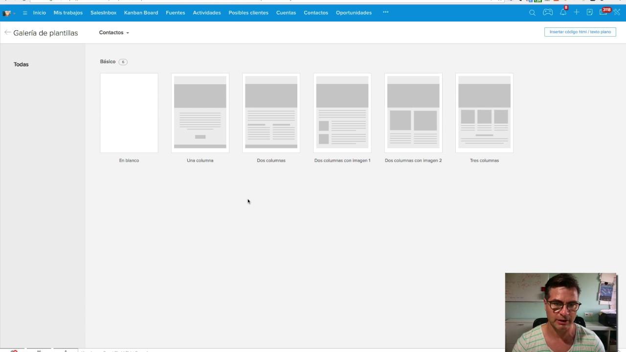 Crear Plantillas de correo con HTML en ZOHO CRM - YouTube