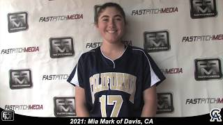 2021 Mia Mark First Base and Outfield Softball Skills Video - 643 California Softball Academy