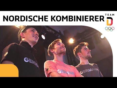 Deutsches Haus feiert Johannes Rydzek, Fabian Rießle und Eric Frenzel 🥇🥈🥉 | Team Deutschland