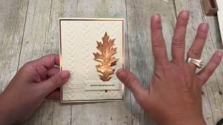 How to make a Copper Embossed Leaf Card & an experiement! thumbnail