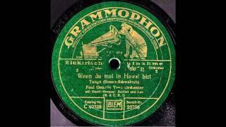 Wenn du mal in Hawai bist / Paul Godwin Tanz Orchester, Gesang: Bartlet und Lee