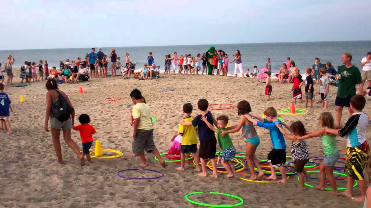 dewey kid s beach party conga line part 3 youtube