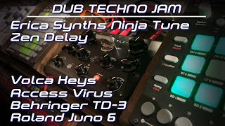 Dub Techno Jam With Ninja Tune Zen Delay | Volca Keys | Behringer TD-3 | Access Virus, Juno 6 [2020]