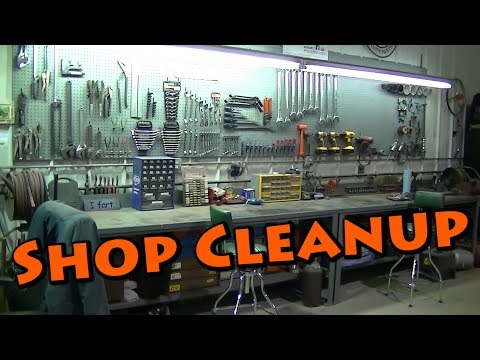 "Shop Garage Cleanup and Organization Part 1 ""Pegboard and Work Benches"""