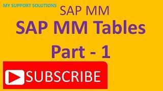 SAP MM Tablo - Bölüm 1