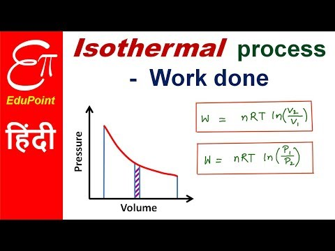 Work done in Isothermal process in Thermodynamics | in HINDI