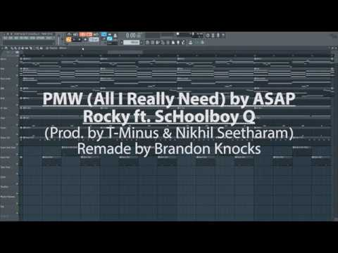 PMW (All I Really Need) - ASAP Rocky ft. ScHoolboy Q [Instrumental Remake FL Studio]