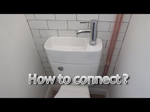 How to connect  toilet  basin combo unit.