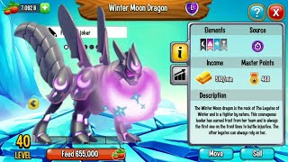 Dragon city : Winter Moon Dragon Review [Leader of Legates of Winter dragon]