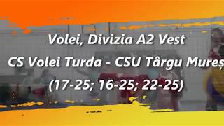 CS Volei Turda - CSU Târgu Mureș 0-3 (19.10.2019)