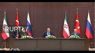 LIVE: Putin, Erdogan and Rouhani hold news conference (ENG)
