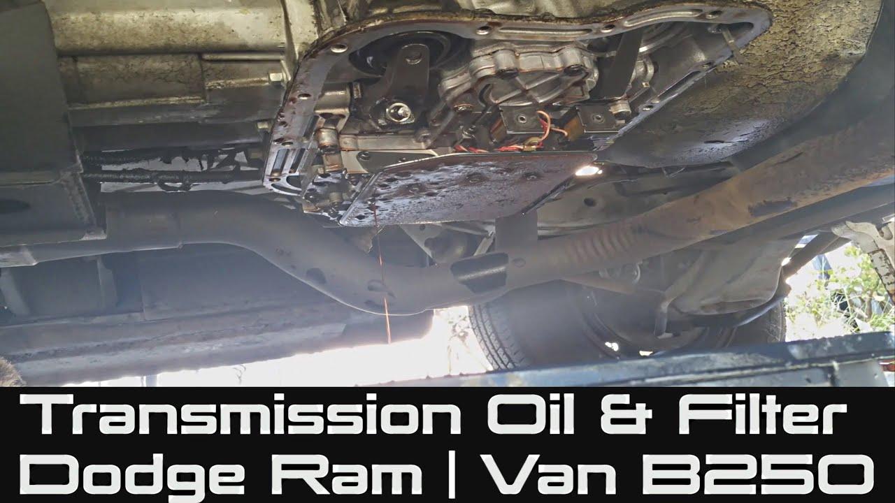 how to change transmission fluid filter on dodge ram van b250 [ 1280 x 720 Pixel ]