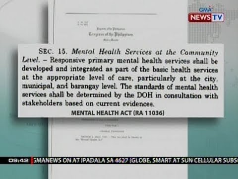 SONA: Mental health law, pirmado ni Pres. Duterte