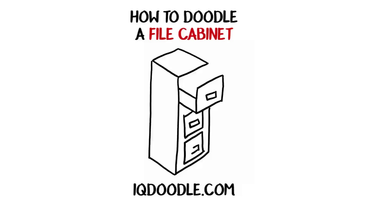 How to Draw a File Cabinet (drawing tips)