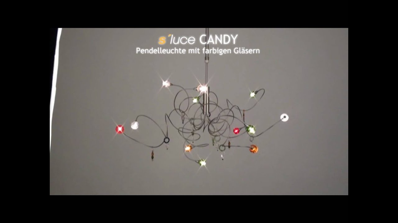 s luce candy pendelleuchte licht design skapetze youtube. Black Bedroom Furniture Sets. Home Design Ideas