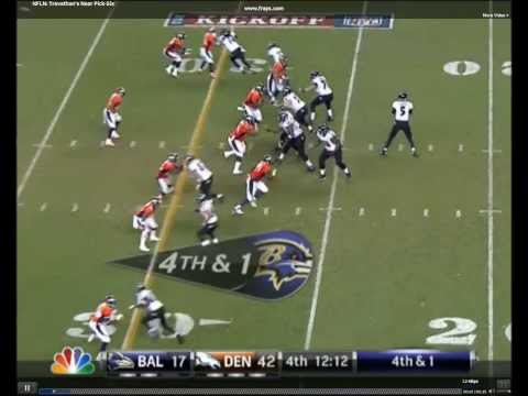Danny Trevathan Almost Pick 6 *DROPS BALL BEFORE ENDZONE*