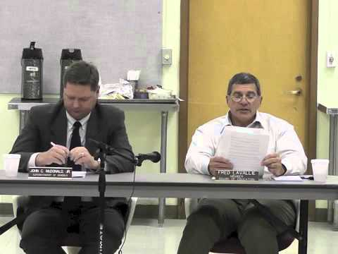 Ticonderoga School Board  10-16-12