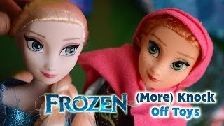 Frozen toys fake dolls review Anna and Elsa funny knock off toys