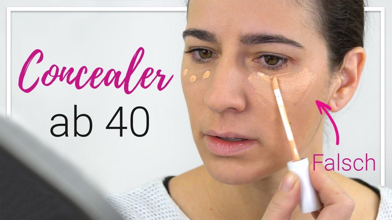 Concealer ab 40 - Tipps für die reifere Haut - YouTube