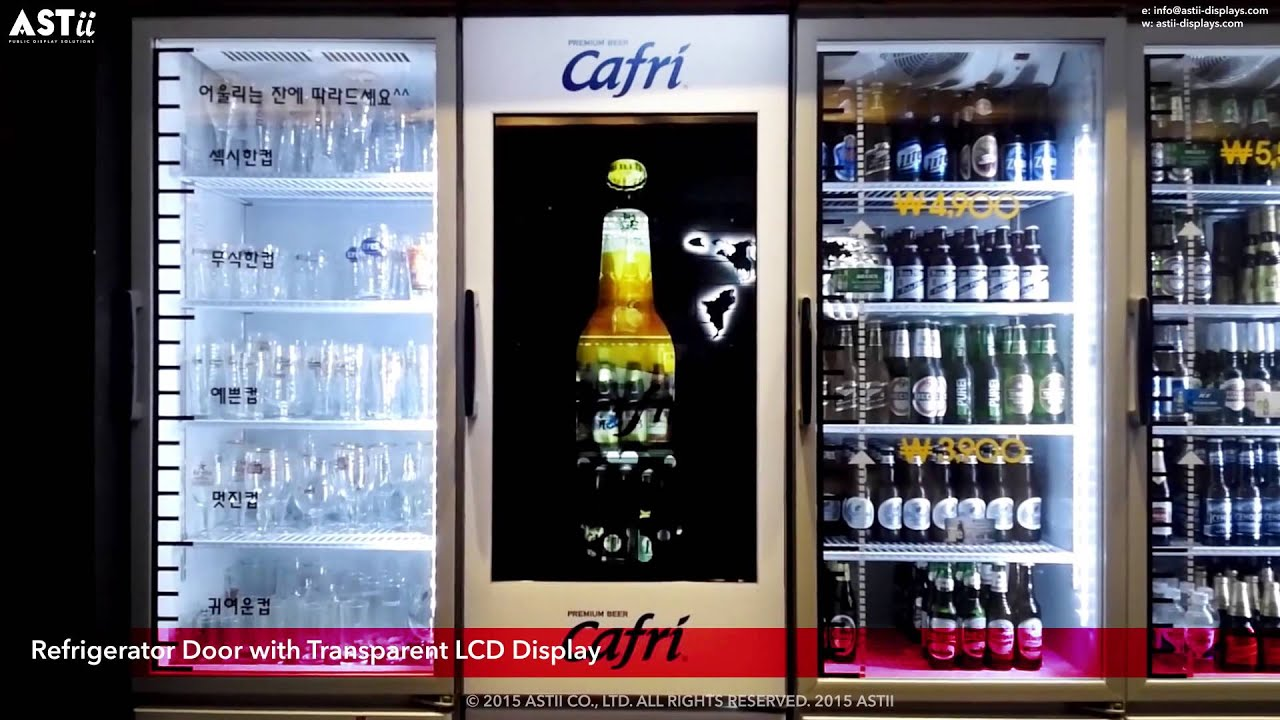 sc 1 st  YouTube & Refrigerator Door with Transparent LCD Display - YouTube