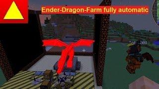 Dragon Farm Full Automatic Minecraft Tutorial GER / EN (subtitle)
