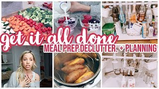 GET IT ALL DONE // MEAL PREP, …