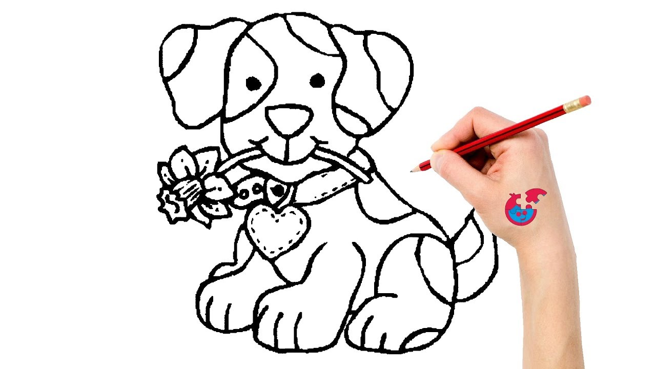 Scribble Drawing Crossword : How to draw animals dog learning drawing puzzle kid