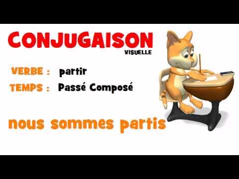 Conjugaison Partir Passe Compose Youtube