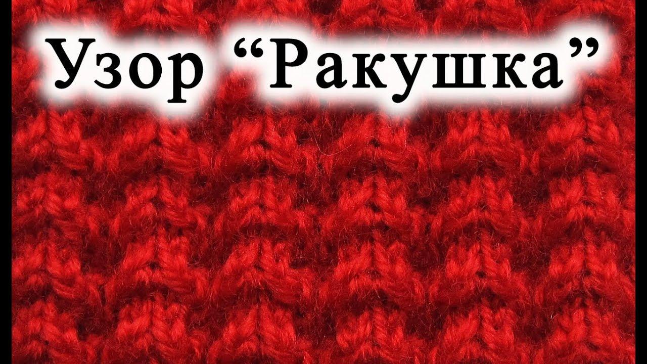 Вязания по схемы ракушки спицами 100