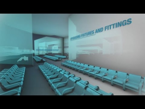 3D and Motion graphics video for Luton Airport new terminal proposal