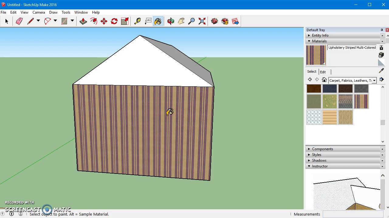 How to use sketchup make for beginners - Basic Interface - YouTube