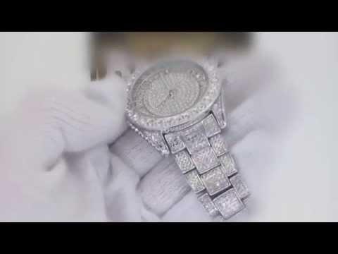 a61c1bfde36 Vendo super Relojes de hip hop plateado lleno de diamantes ...