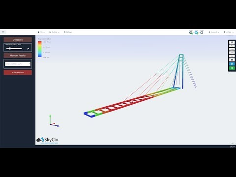 Catenary Cable Non-Linear Analysis | SkyCiv Structural 3D Cloud Engineering Software